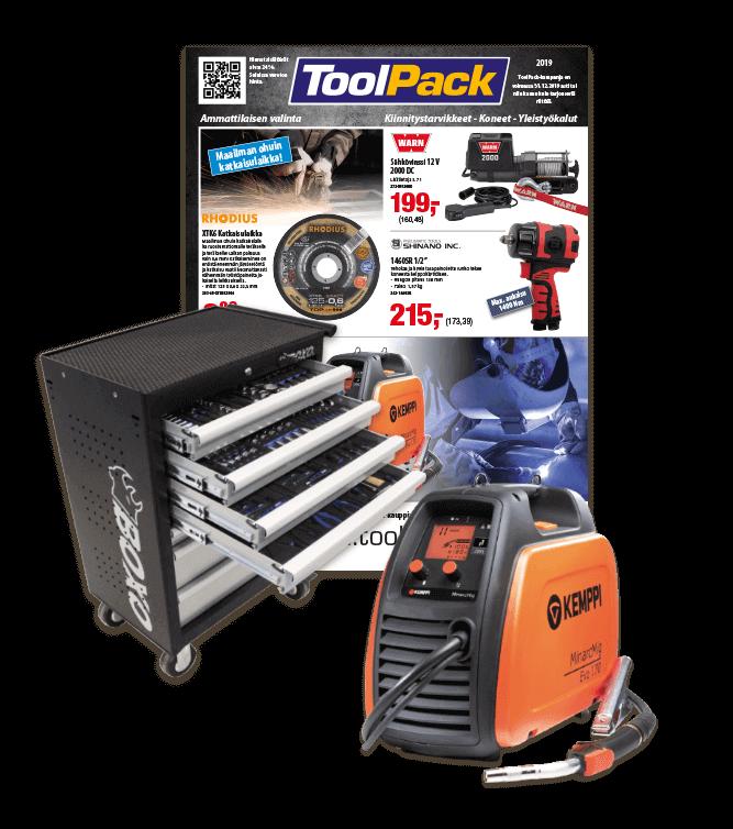 Toolpack Teollisuus 2019 työkalut ammattilaisen valinta